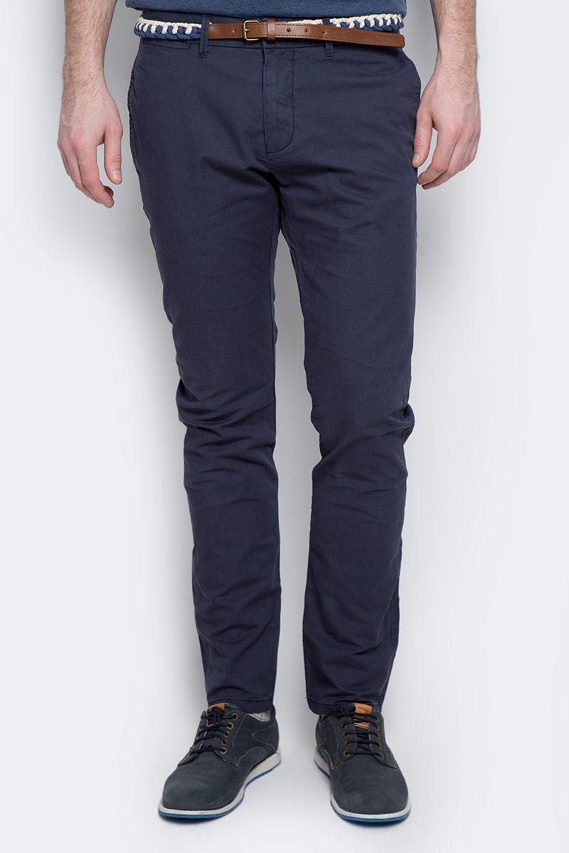 Брюки мужские Tom Tailor, цвет: синий. 6404994.00.10_6752. Размер 30-32 (46-32) брюки мужские tom tailor цвет зеленый 6855008 00 12 7807 размер l 50