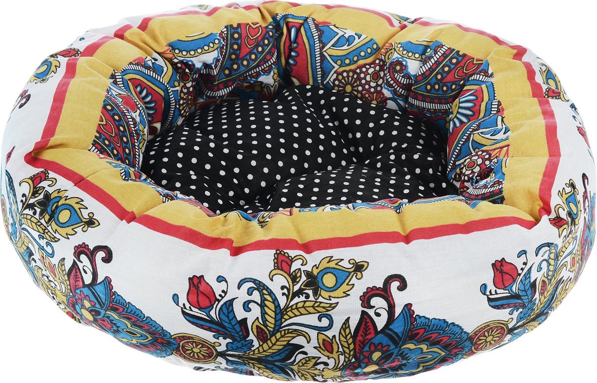 Лежак для животных Родные места Ватрушка. Звезда Востока, 50 x 50 x 15 см