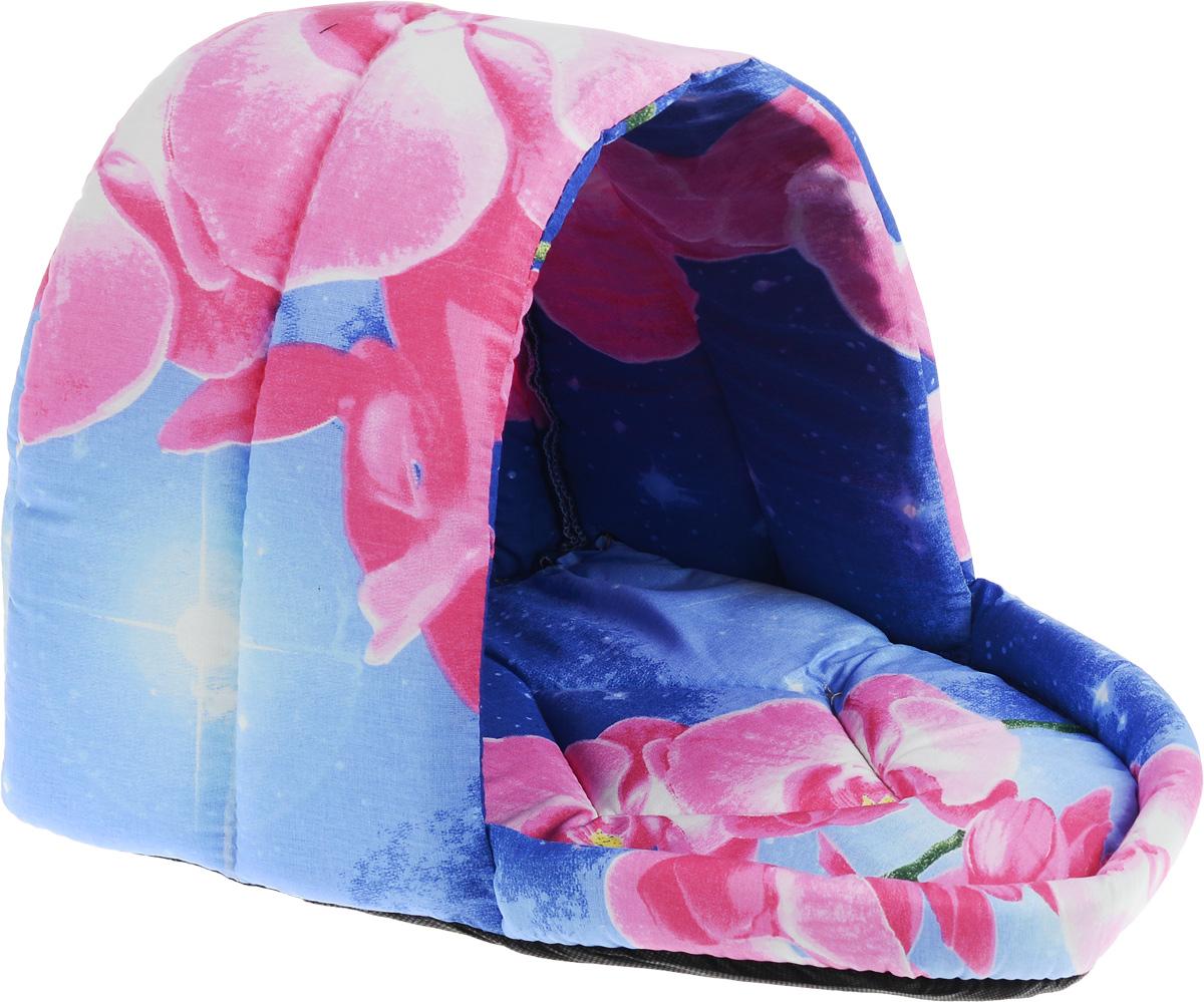 """Лежак для животных Elite Valley """"Люлька"""", цвет: синий, розовый, белый, 37 х 28 х 28 см, Л-11/2"""