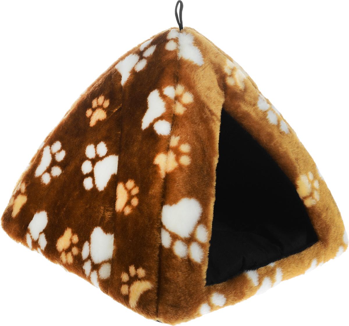 "Домик для животных Elite Valley ""Вигвам"", цвет: светло-коричневый, бежевый, белый 35 х 35 х 32 см. Л-22/1"