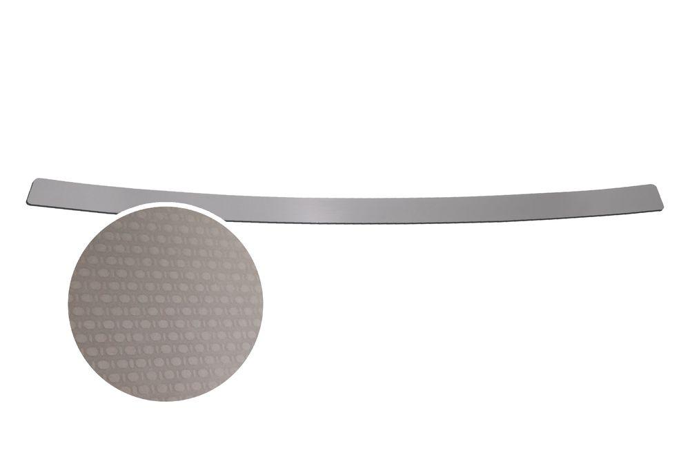 """Накладка на задний бампер Rival для Nissan X-Trail 2015-, 1 штNB.4113.1Накладка на задний бампер RIVALНакладка на задний бампер защищает лакокрасочное покрытие от механических повреждений и создает индивидуальный внешний вид автомобиля- Использование высококачественной итальянской нержавеющей стали AISI 304.- Надежная фиксация на автомобиле с помощью """"фирменного"""" скотча 3М.- Рельефный рисунок накладки придает автомобилю индивидуальный внешний вид.- Идеально повторяют геометрию бампера автомобиля.Уважаемые клиенты! Обращаем ваше внимание,что накладка имеет форму и комплектацию, соответствующую модели данного автомобиля. Фото служит для визуального восприятия товара."""