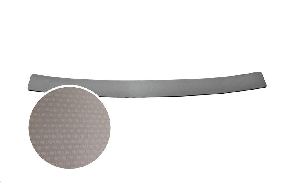 """Накладка на задний бампер Rival для Renault Logan 2014-, 1 штNB.4701.1Плоская накладка на задний бампер RIVALНакладка на задний бампер защищает лакокрасочное покрытие от механических повреждений и создает индивидуальный внешний вид автомобиля- Использование высококачественной итальянской нержавеющей стали AISI 304.- Надежная фиксация на автомобиле с помощью """"фирменного"""" скотча 3М.- Рельефный рисунок накладки придает автомобилю индивидуальный внешний вид.- Идеально повторяют геометрию бампера автомобиля.Уважаемые клиенты! Обращаем ваше внимание,что накладка имеет форму и комплектацию, соответствующую модели данного автомобиля. Фото служит для визуального восприятия товара."""
