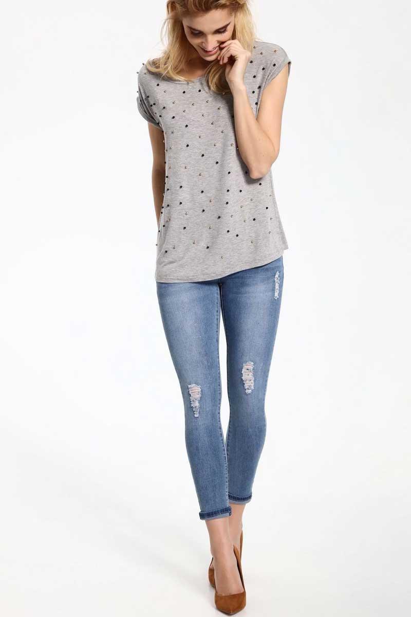 Джинсы женские Top Secret, цвет: синий. SSP2425NI. Размер 34 (42) шорты женские top secret цвет оранжевый ssz0727po размер 36 42