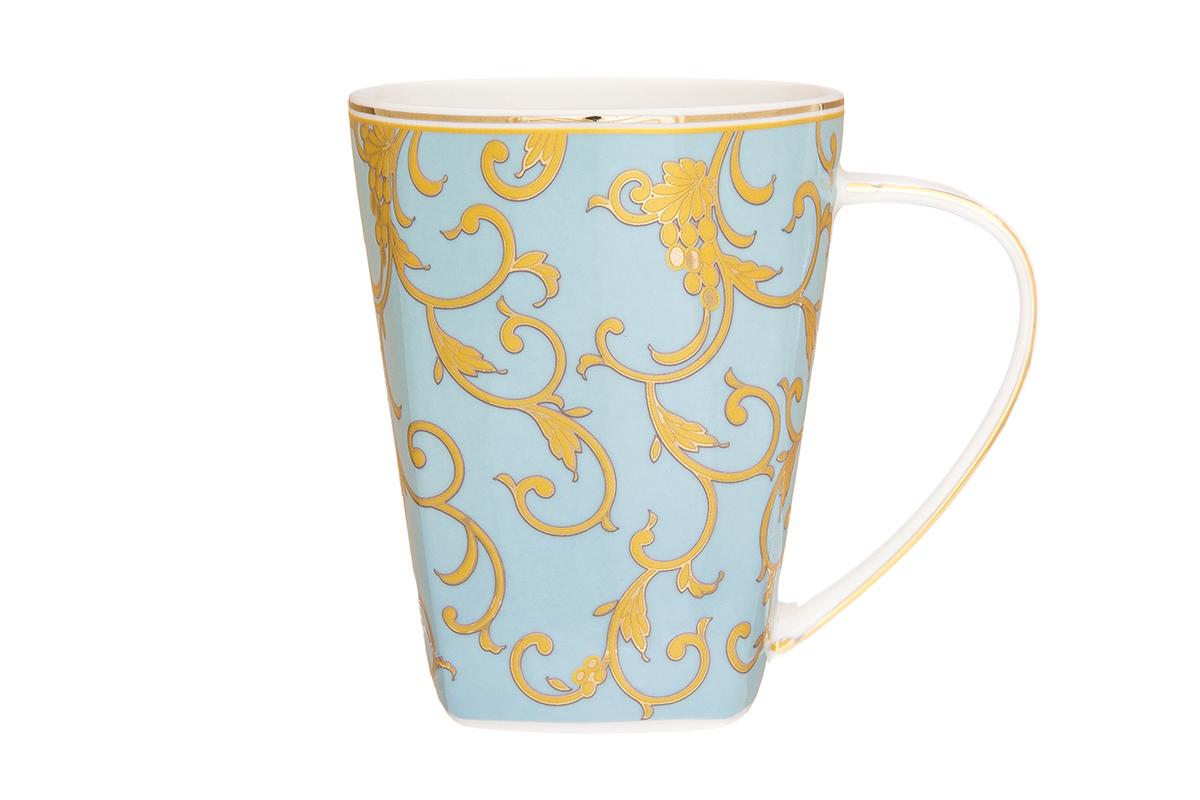 Кружка Elan Gallery Королевский узор, цвет: голубой, 420 мл кружки elan gallery кружка 5000 рублей