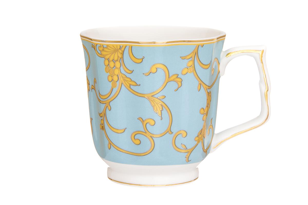 Кружка Elan Gallery Королевский узор, цвет: голубой, 340 мл