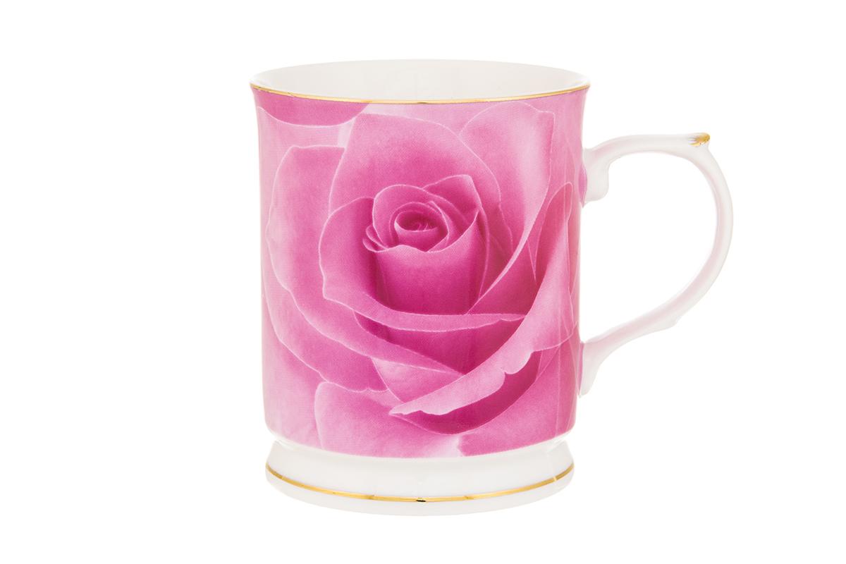 Кружка Elan Gallery Роза, цвет: розовый, 400 мл730644Кружка Elan Gallery Роза выполнена из высококачественного фарфора и оформлена красочным рисунком. Изделие станет отличным дополнением к сервировке семейного стола, а также замечательным подарком для ваших родных и друзей.Не рекомендуется применять абразивные моющие средства.Объем кружки: 400 мл..Размер 12,5 х 8,5 х 10 см.