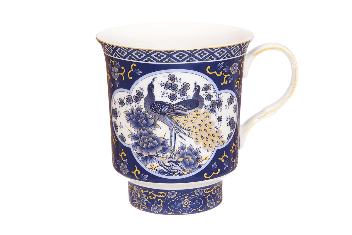Кружка Elan Gallery Павлин, цвет: синий, 650 мл