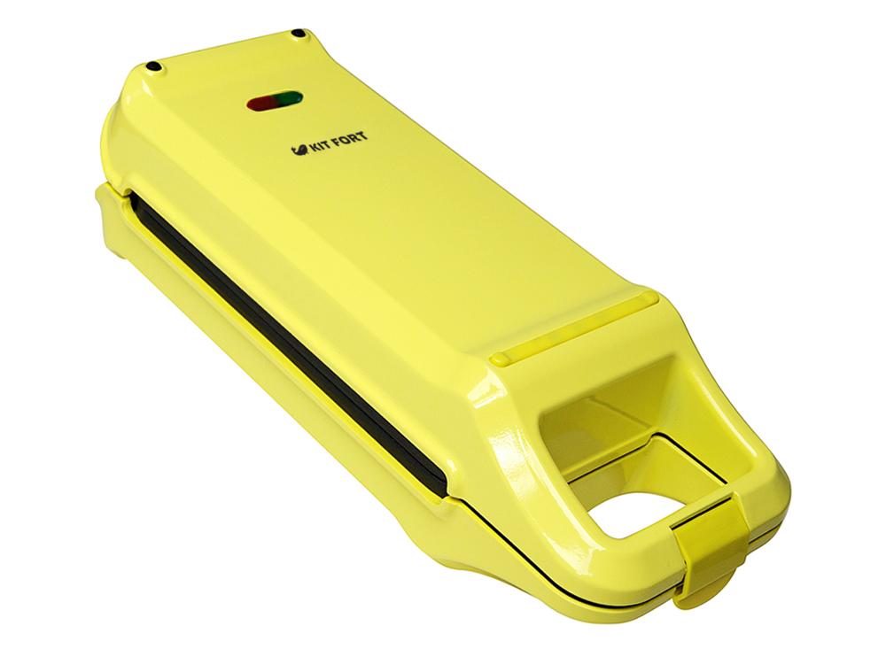 Kitfort КТ-1611, Yellow вафельница для бельгийских вафельКТ-1611Электрическая вафельница Kitfort КТ-1611 поможет испечь венские и бельгийские вафли. Она оснащена световыми индикаторами включения и готовности к работе, независимыми нагревателями в каждой половинке формы и отсеком для хранения шнура. Противоскользящие ножки не дают прибору скользить по столу во время готовки.
