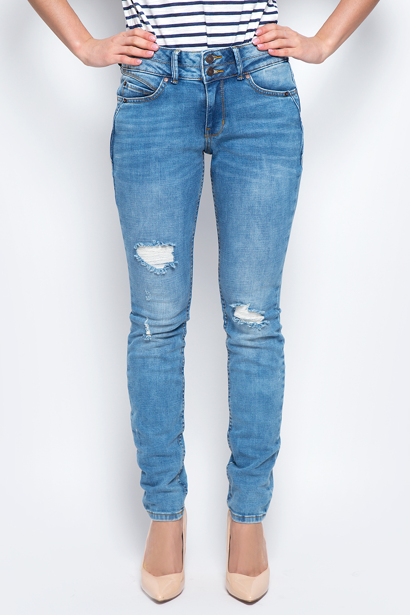 Джинсы женские Tom Tailor Denim, цвет: синий. 6205358.00.71_1296. Размер 24-32 (40-32) rogers j market leader new edition intermediate practice file