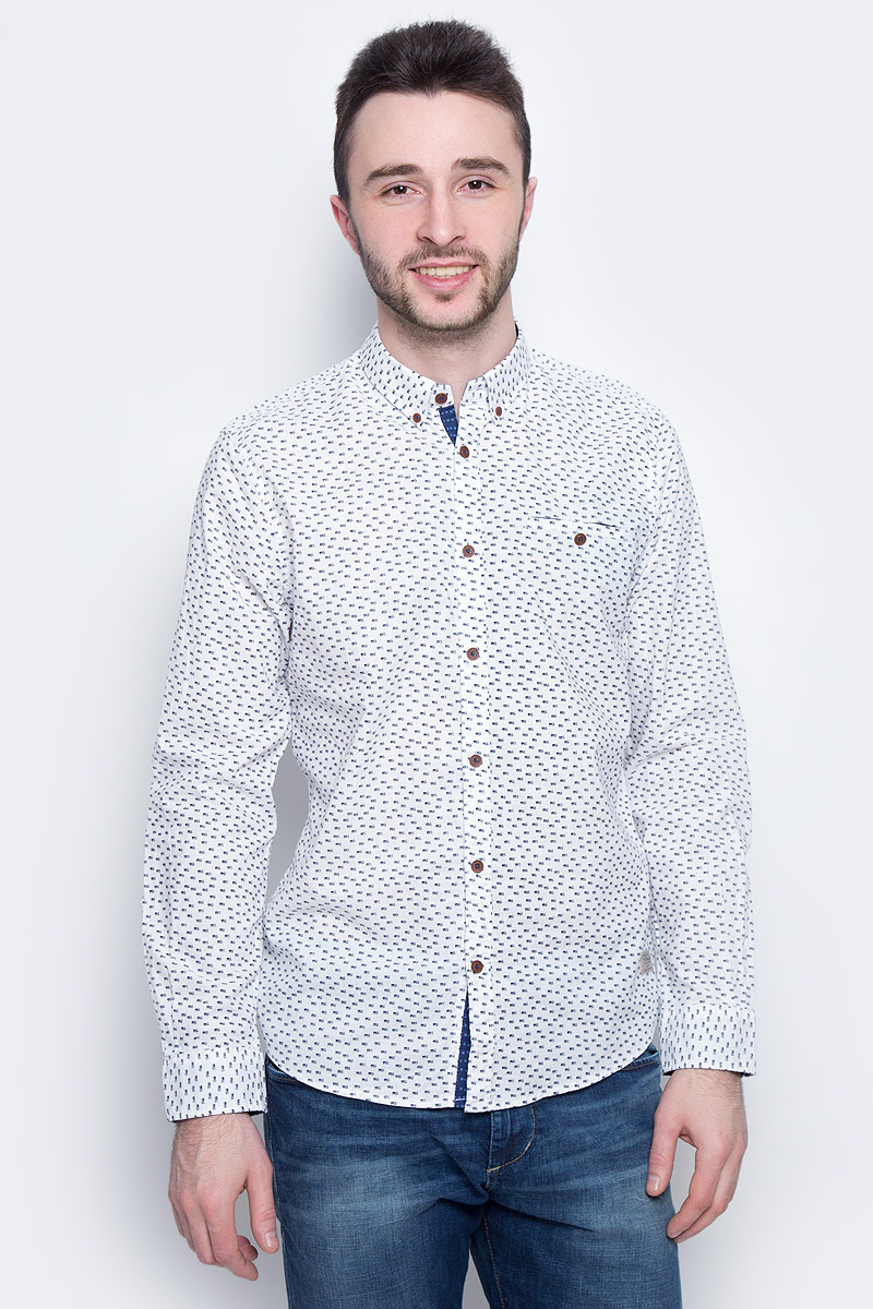 Фото - Рубашка мужская Tom Tailor, цвет: белый. 2033113.00.10_2000. Размер M (48) рубашка мужская gusskater 2014