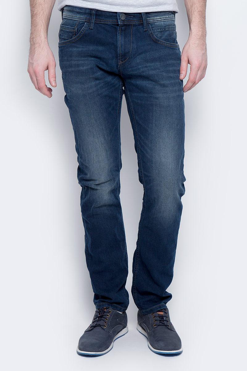 Джинсы мужские Tom Tailor Denim Aedan, цвет: темно-синий. 6205288.09.12_1394. Размер 30-32 (46-32) джинсы мужские tom tailor denim цвет голубой 6204155 00 12 1062 размер 33 34 48 50 34
