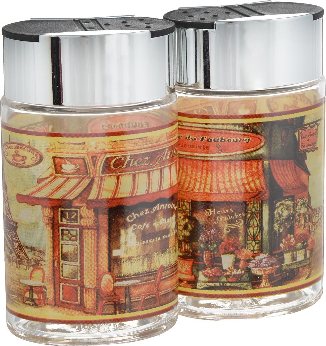 Набор для соли и перца SinoGlass Бутик, 2 предметаSI-806648003-ALНабор SinoGlass Бутик состоит из солонки и перечницы. Емкости, выполненные из стекла, оснащены пластиковыми крышками с хромированным покрытием со специальными отверстиями для высыпания. Благодаря компактным размерам набор не займет много места на вашей кухне. Емкости легки в использовании: стоит только перевернуть их, и вы с легкостью сможете добавить соль и перец по вкусу в любое блюдо. Дизайн, эстетичность и функциональность набора SinoGlass Бутик позволят ему стать достойным дополнением к кухонному инвентарю.Размер солонки/перечницы (с учетом крышки): 5,5 х 4 х 10 см.