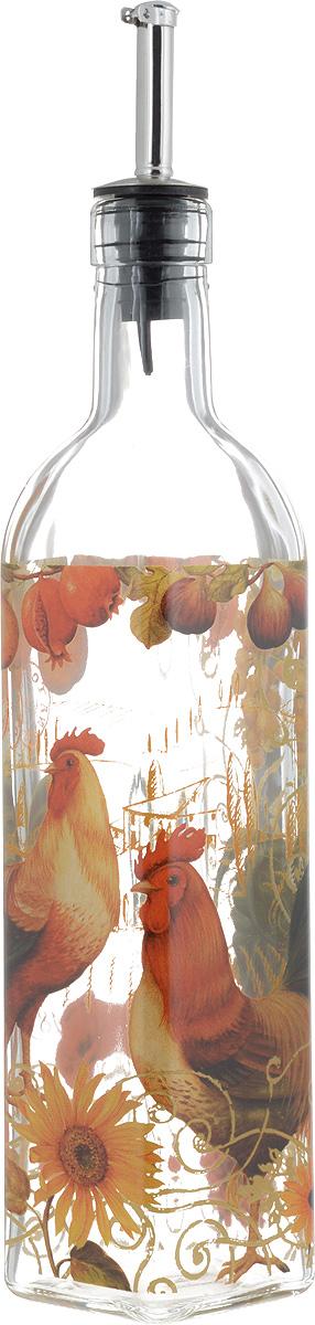 Бутылка для масла и уксуса SinoGlass Солнечный день, 500 млSI-8041F50-ALБутылка для масла или уксуса SinoGlass Солнечный день, выполненная из стекла, украсит любую кухню. Металлическая крышка с носиком снабжена клапаном антикапля, не допускающим пролива. Стенки бутылки прозрачные, поэтому вы с легкостью можете видеть содержимое.Оригинальная бутылка будет отлично смотреться на вашей кухне.Высота бутылки (с учетом носика): 31 см. Размер основания: 5,5 х 5,5 см.