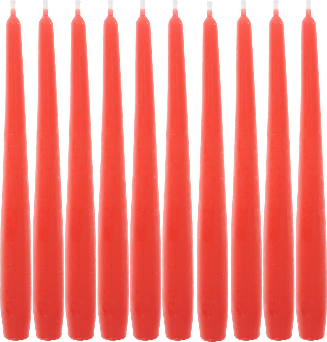 Набор свечей Омский cвечной завод, цвет: красный, высота 24 см, 10 шт331119/001918Набор Омский cвечной завод состоит из 10 свечей, изготовленных из парафина и хлопчатобумажной нити. Такие свечи создадут атмосферу таинственности и загадочности и наполнят ваш дом волшебством и ощущением праздника. Хороший сувенир для друзей и близких.Примерное время горения: 7 часов. Высота: 24 см. Диаметр: 2 см.