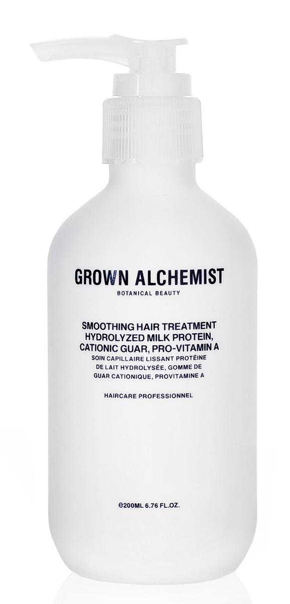 Grown Alchemist Разглаживающий крем 200 млGRA0180Легкое, хорошо впитывающееся разглаживающее средство, благодаря которому волосы не пушатся. Предотвращает появление пушащихся прядей, делает волосы гладкими, имеет термозащитные свойства.