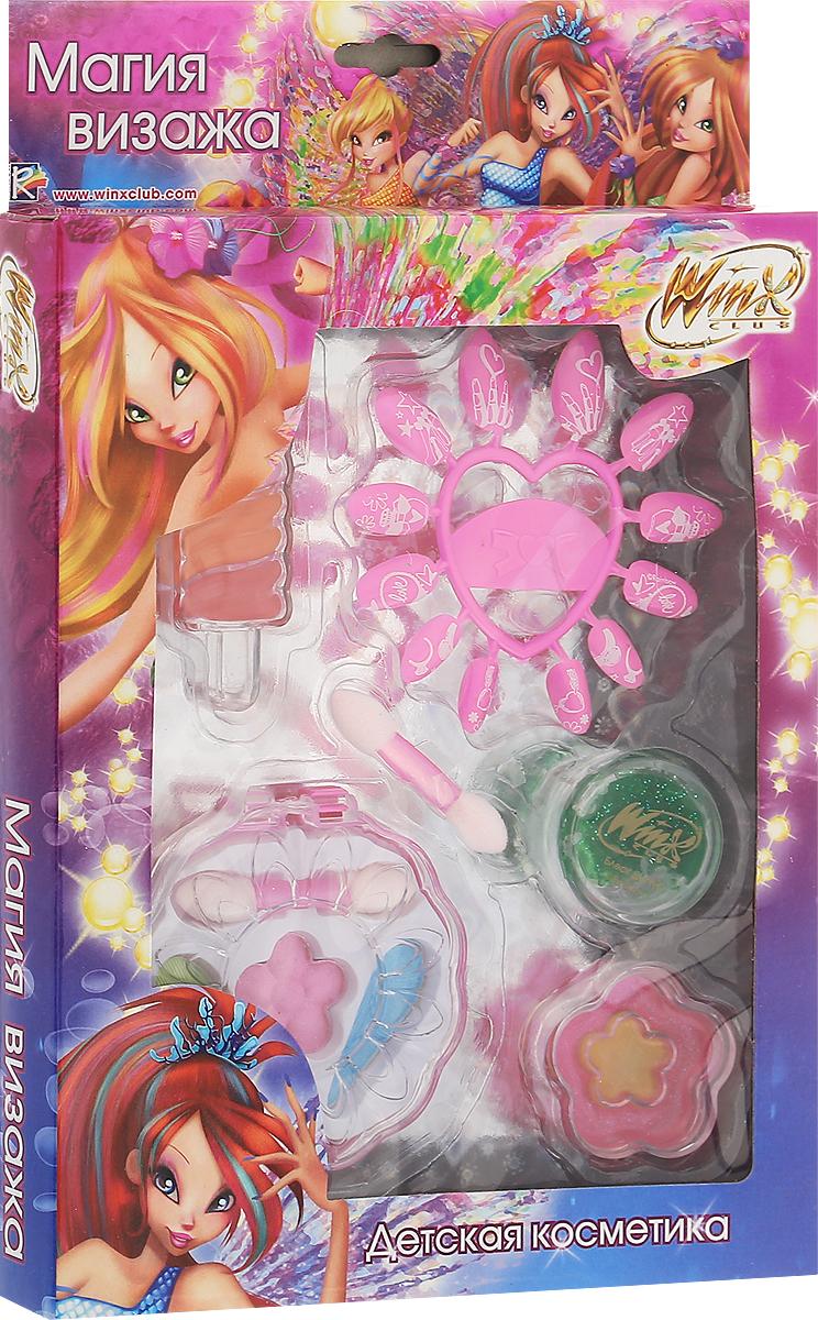 Winx Club Набор детской декоративной косметики Магия визажаWNX1507-005Набор детской косметики Winx Club Магия визажа (тени, блеск, накладные ногти, аксессуары) изготовлен под лицензией известного мультсериала и включает всё необходимое для создания яркого образа.Красочное, фирменное оформление упаковки, любимые персонажи, качество и безопасность для ребёнка - всё это делает лицензионную продукцию привлекательной и популярной среди покупателей всех возрастов.Рекомендуемый возраст от 3 лет.Не рекомендуется детям до 3-х лет.Уважаемые клиенты! Обращаем ваше внимание, что полный перечень состава представлен на дополнительном изображении.