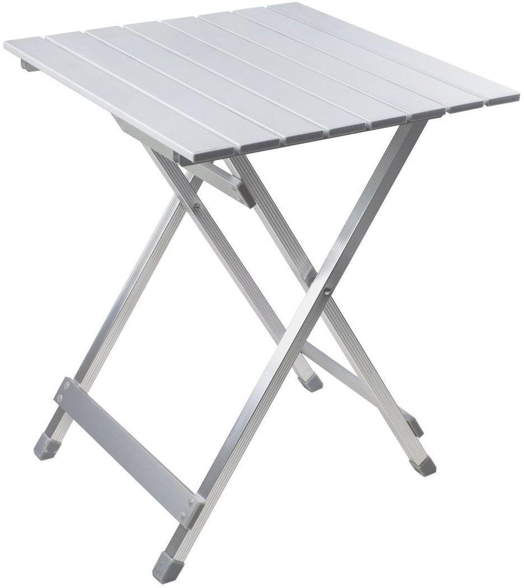 Стол складной GoGarden Compact 50, садовый, 50 х 48 х 61см50355Небольшой многофункциональный стол GoGarden Compact 50 выполнен из наборного алюминия.Легкий, компактный, в сложенном виде очень удобен для переноски.Складывается и раскладывается за 10 секунд.Прочная, устойчивая конструкция.Стол можно поставить рядом с шезлонгами для напитков, использовать для еды или как декоративную подставку под цветы и хранить на открытом воздухе в течение всего года. Рама выполнена из высококачественного 22/22 / 55/11 мм алюминия. В сложенном состоянии не занимает много места.Размер в разложенном виде: 50 х 48 х 61 см.Размер в сложенном виде: 70 х 50 х 5 см.Вес: 2,2 кг.Нагрузка: 30 кг.