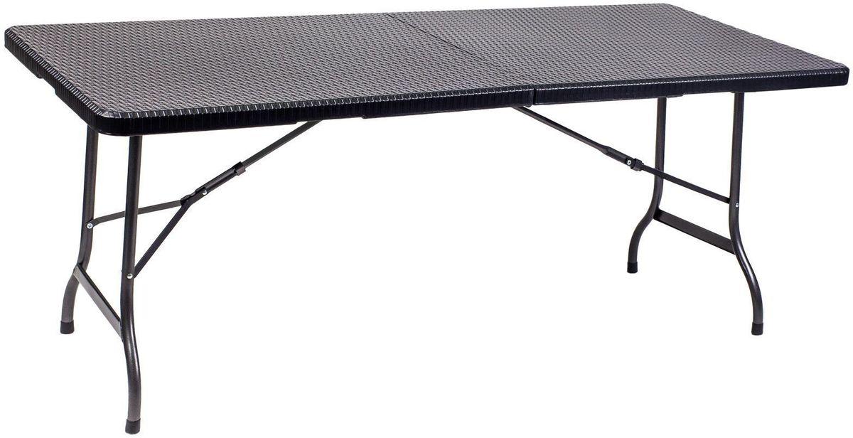 Стол складной GoGarden Capri, садовый,180 x 75 x 72 см50361Садовый стол GoGarden Capri предназначен для использования на даче и дома.Большой размер дает возможность разместить за столом до 8 человек.Столешница из водостойкого пластика с модным плетением под ратанг. Водостойкий пластик столешницы и стальная рама с антикоррозийным покрытием позволяют оставлять стол на открытом воздухе в течение всего сезона.Прекрасно выполнена внутренняя поверхность стола. Надежный крепежный механизм. Пластиковая защита ножек исключает царапины при использовании внутри помещения.Несмотря на большой размер, стол очень легкий в транспортировке и хранении, так как складывается в плоский чемодан с удобной ручкой.Отличная комбинация со стулом GoGarden IBIZA.Размер в разложенном виде: 180 x 75 x 72 см.Размер в сложенном виде: 90 х 75 х 8,6 см.Вес: 12,5 кг.Нагрузка: 30 кг.