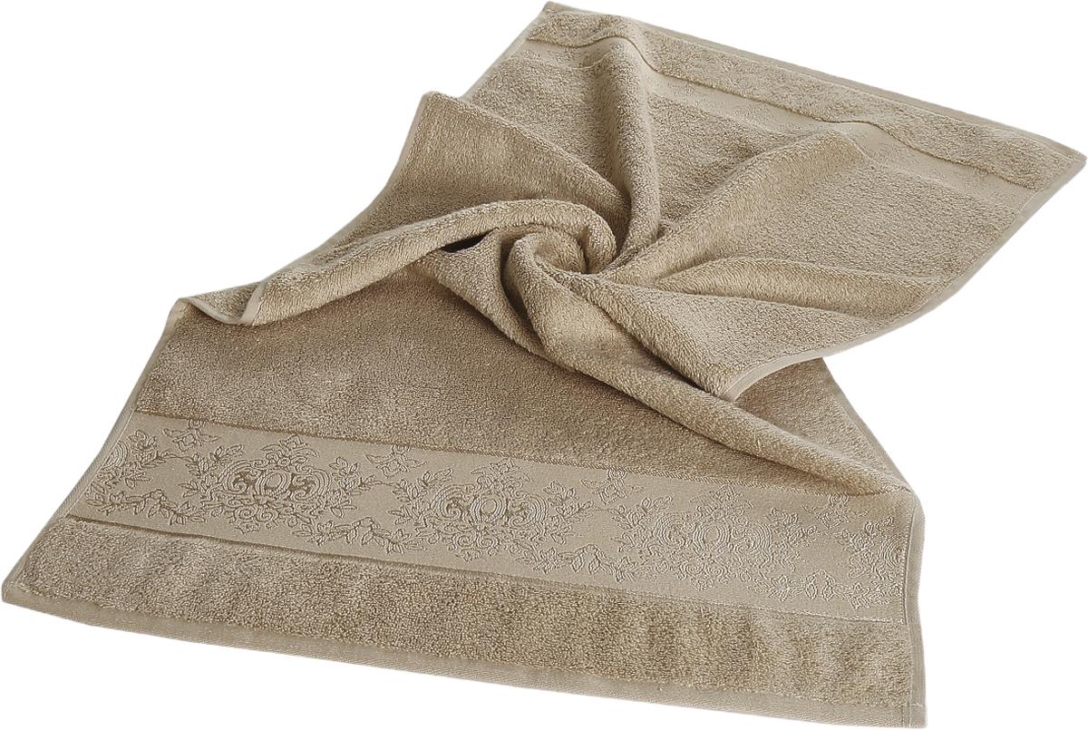 Полотенце бамбуковое Karna Pandora, цвет: бежевый, 50 х 90 см2154/CHAR003Бамбуковое полотенце Karna Pandora займет достойное место в ванной комнате.Гипоаллергенное бамбуковое полотенце подойдет даже детям, а его антибактериальные свойства - весьма прекрасное дополнение к имеющимся достоинствам. Бамбуковое полотенце сможет долго радовать своими красками и внешним видом.