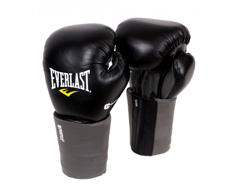 Перчатки для единоборств Everlast Protex3, вес 16 унций. Размер L/XL боксерские перчатки everlast pro leather strap цвет черный вес 10 унций