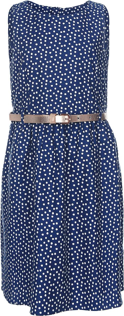 Платье для девочки Tom Tailor, цвет: темно-синий, белый. 5019627.00.81_6845. Размер 92/98 платье для девочки tom tailor цвет серый темно синий 5019899 00 81 1000 размер 92 98