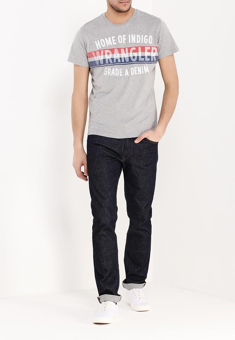 Футболка мужская Wrangler, цвет: серый. W7A52FK37. Размер M (48) ботинки wrangler wrangler wr224amlir98