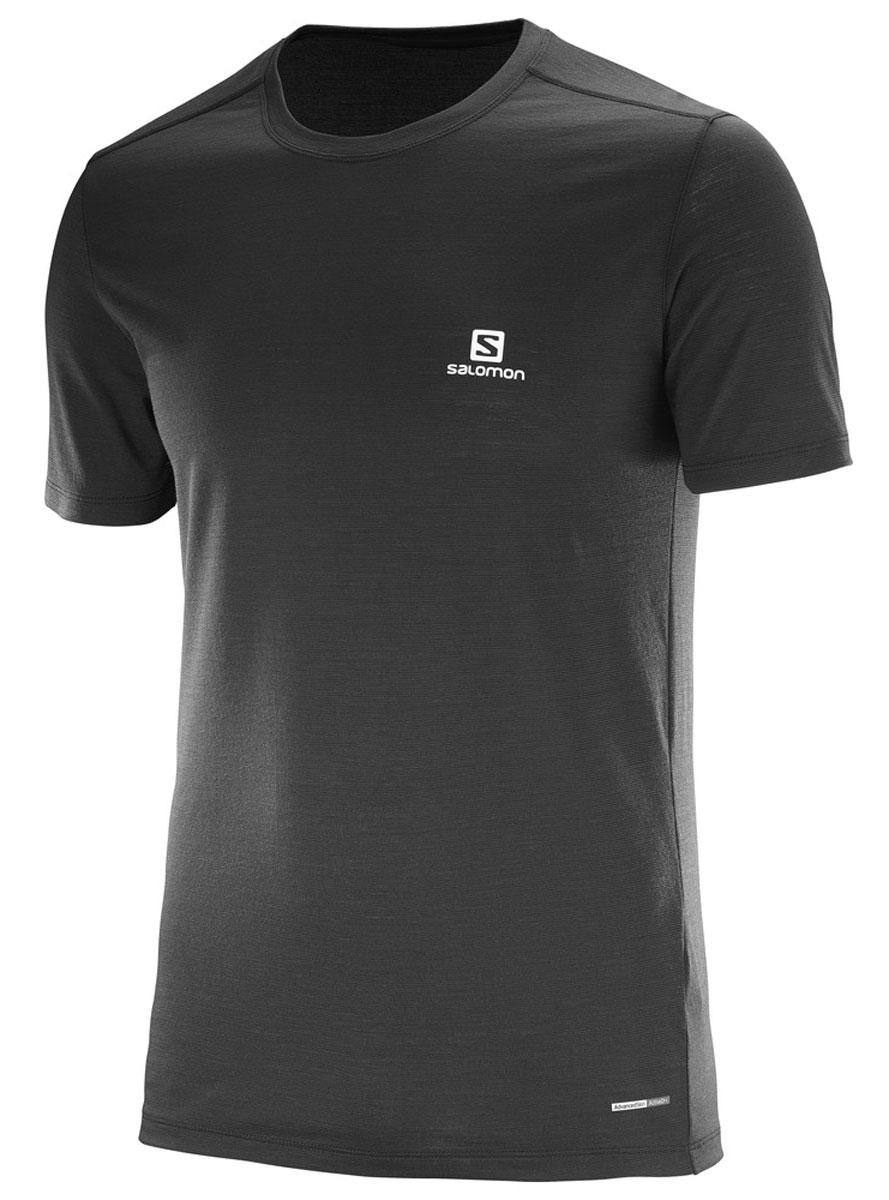Футболка мужская Salomon Cosmic Logo Ss Tee, цвет: черный. L39279100. Размер XL (56/58)