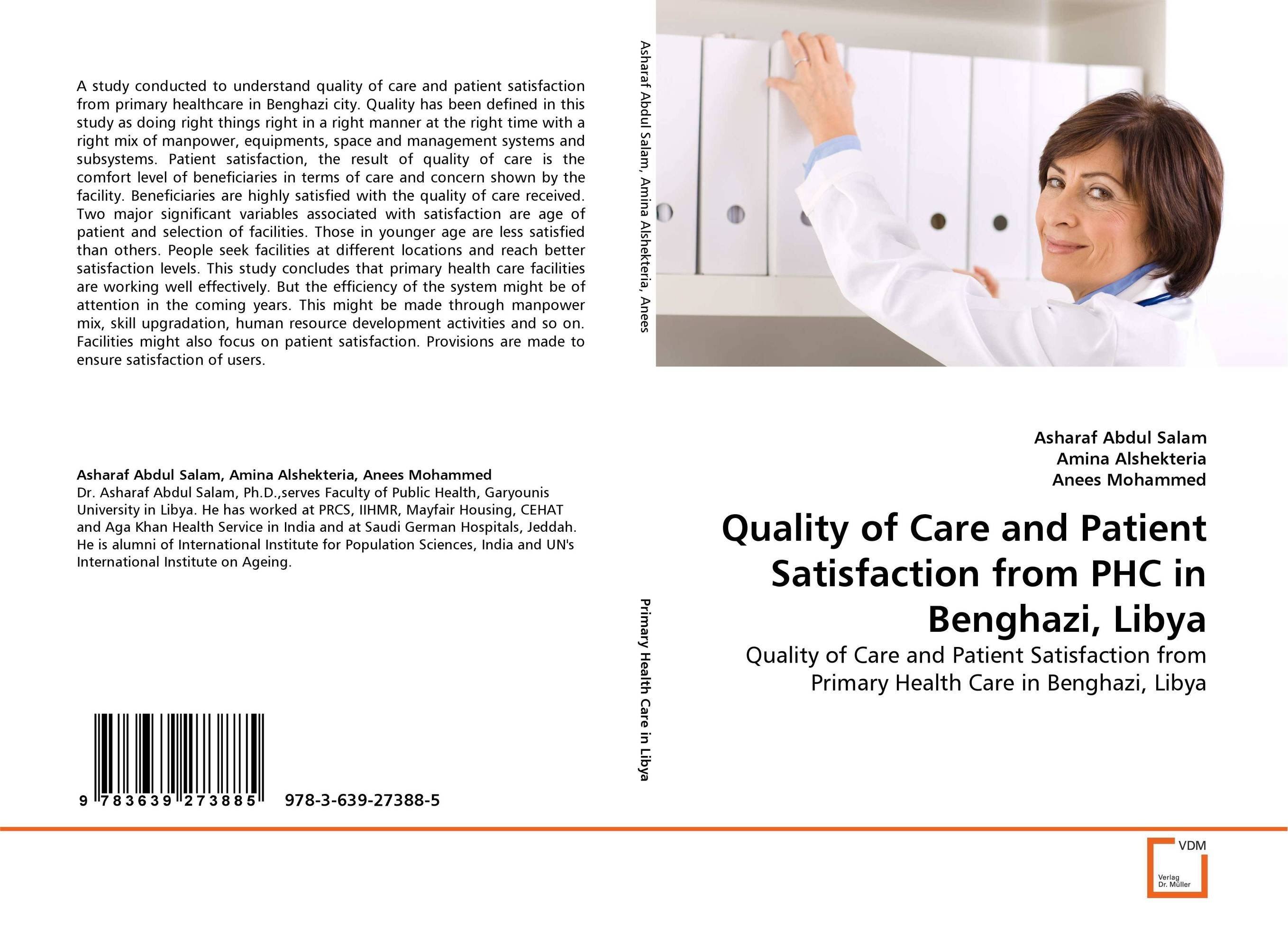 Quality of Care and Patient Satisfaction from PHC in Benghazi, Libya analysis of patient satisfaction