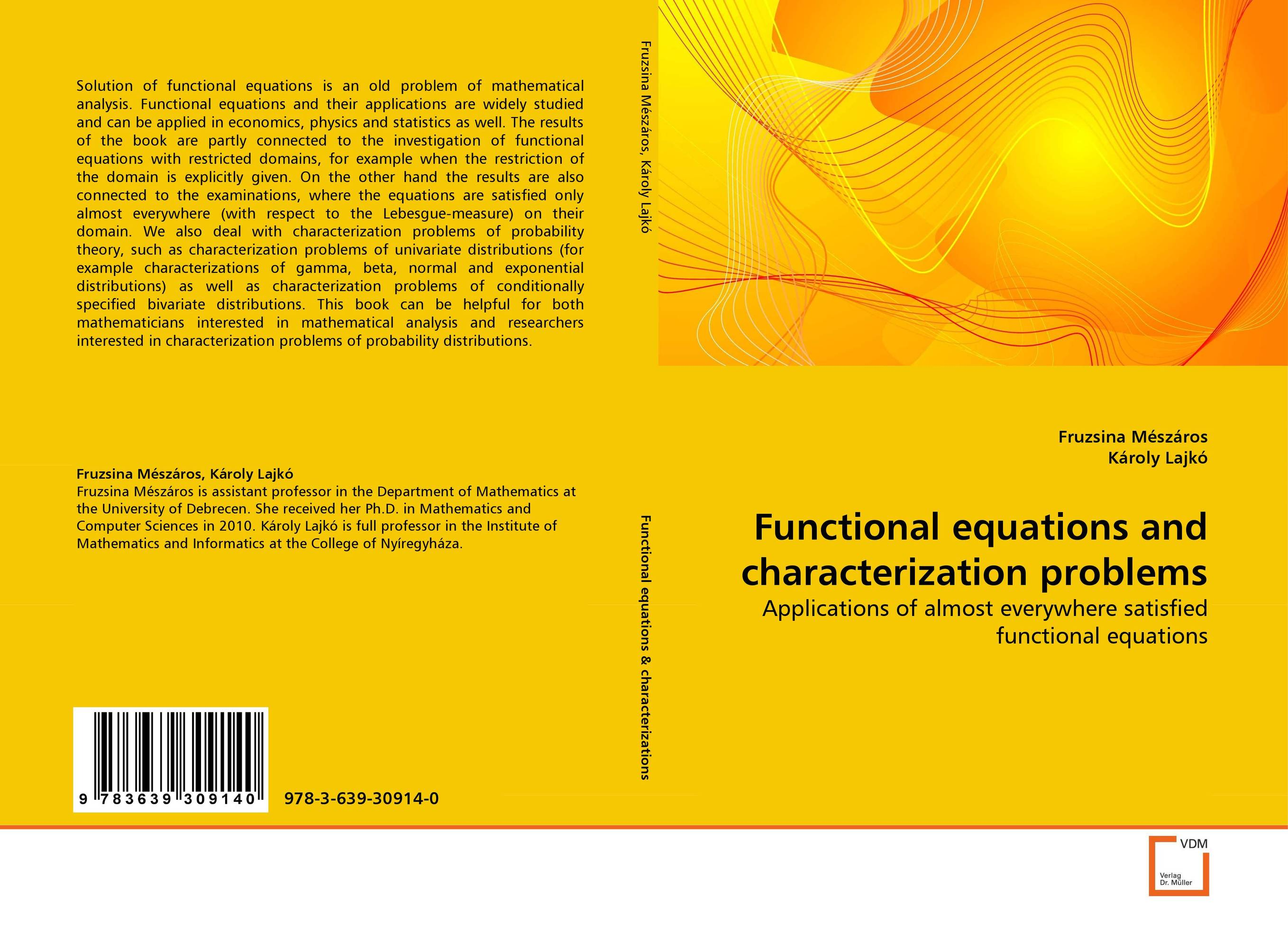 Functional equations and characterization problems lectures on functional analysis