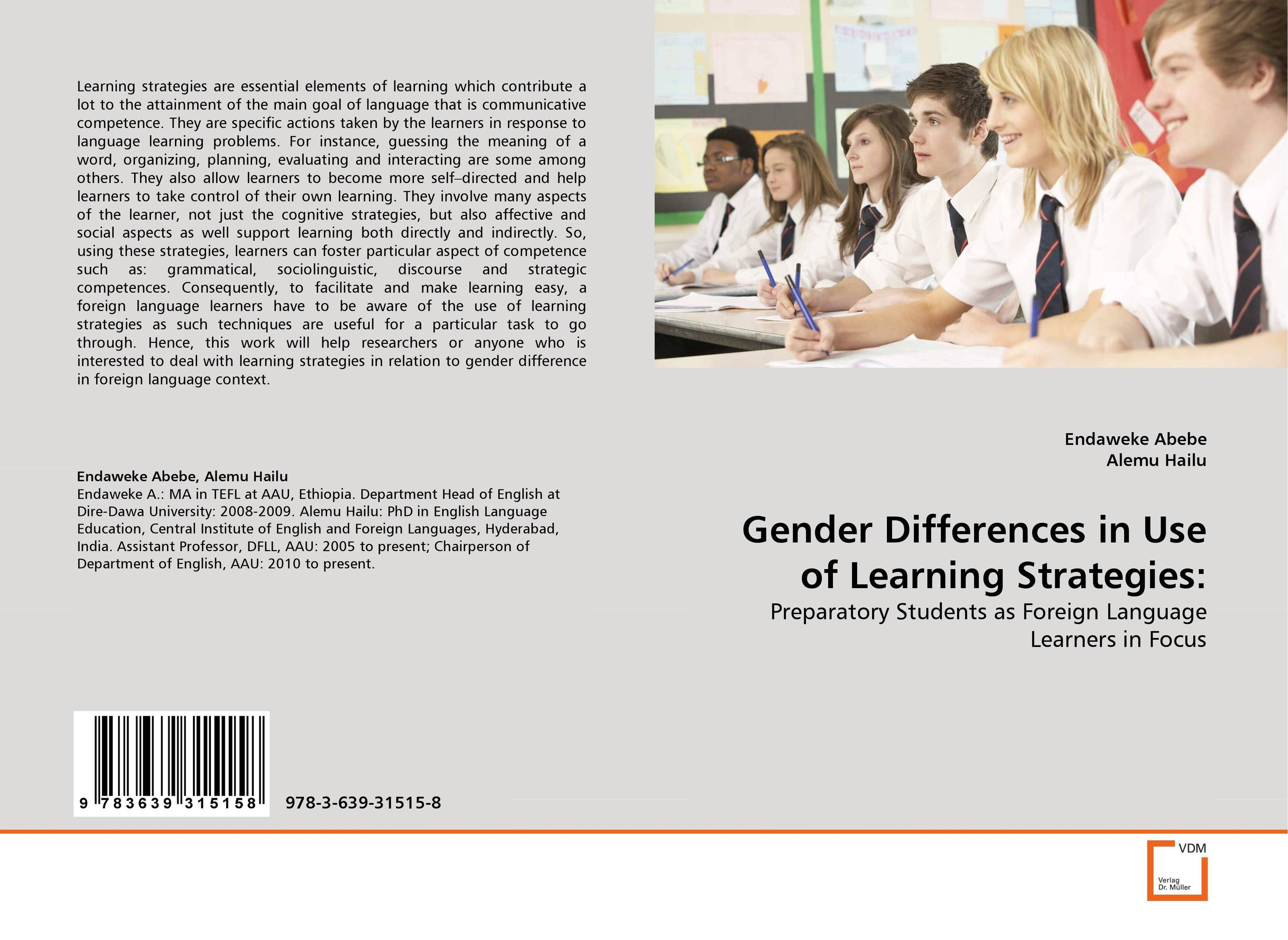 Gender Differences in Use of Learning Strategies: silence in foreign language learning