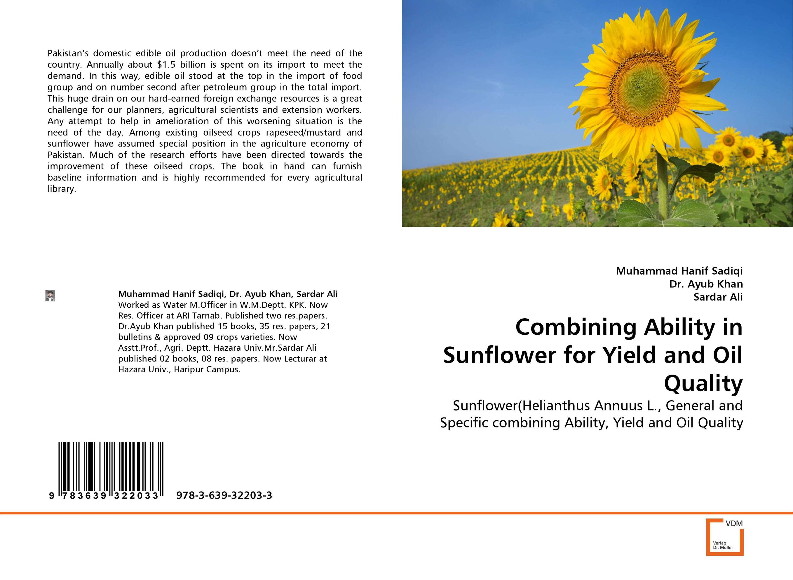 цена на Combining Ability in Sunflower for Yield and Oil Quality