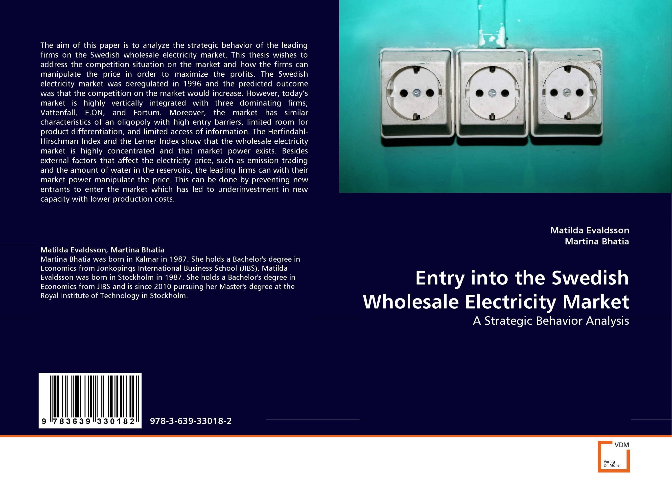 Entry into the Swedish Wholesale Electricity Market
