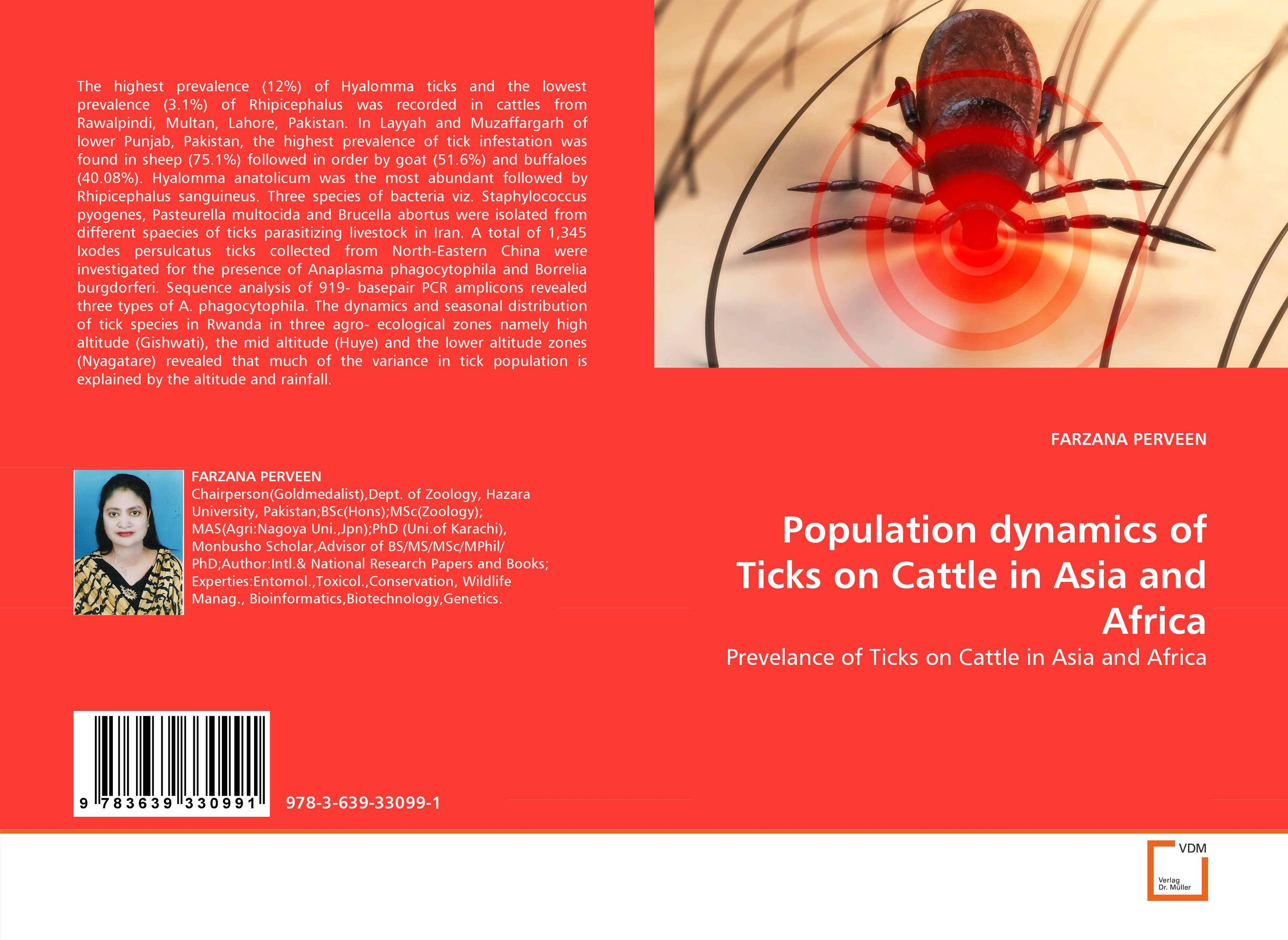 Population dynamics of Ticks on Cattle in Asia and Africa