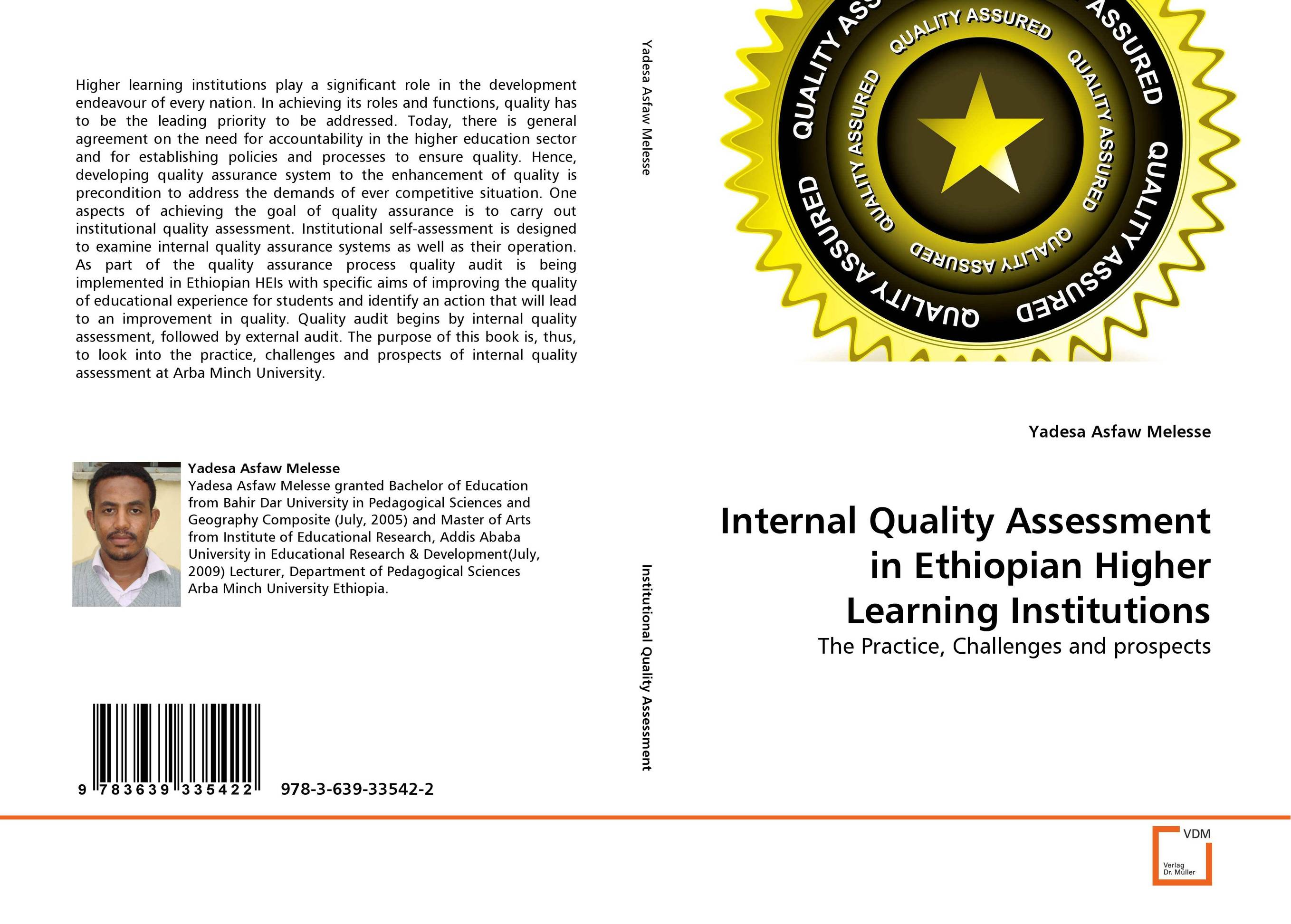 Internal Quality Assessment in Ethiopian Higher Learning Institutions quality assurance in textbook development