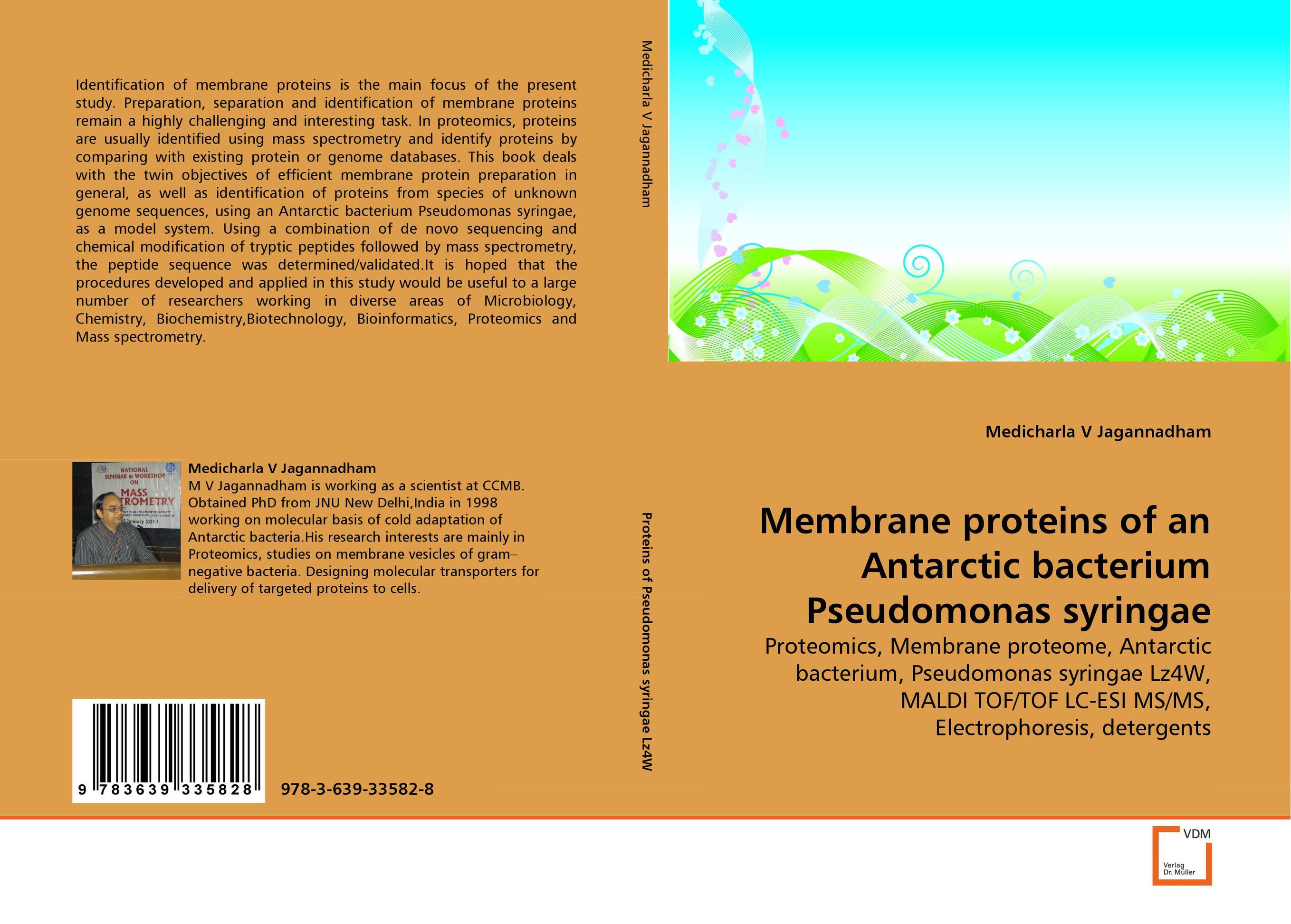 Membrane proteins of an Antarctic bacterium Pseudomonas syringae receptor membrane ring h2 rmr proteins in plants