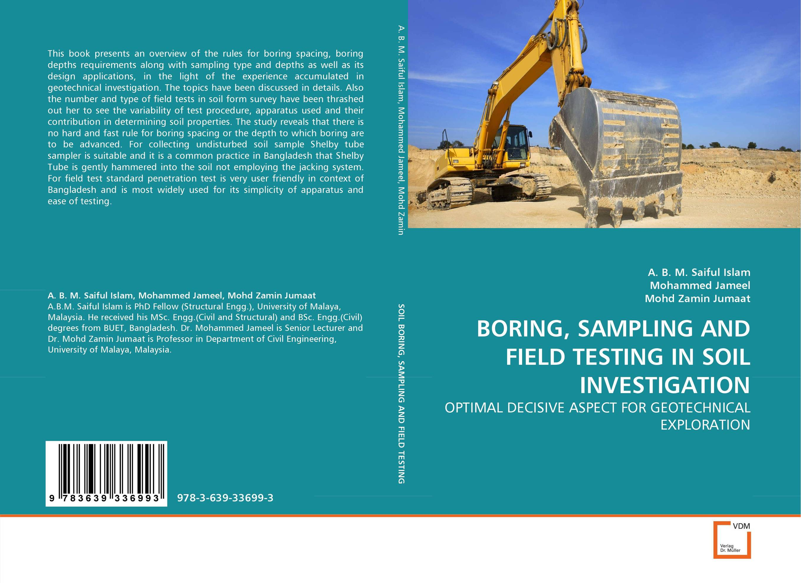 BORING, SAMPLING AND FIELD TESTING IN SOIL INVESTIGATION