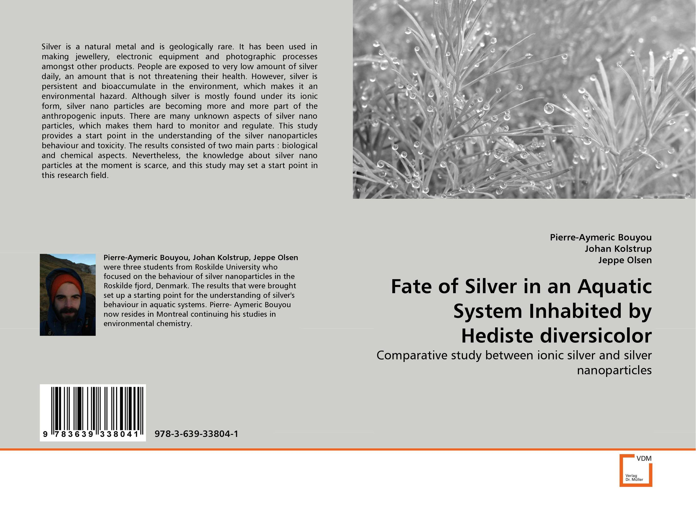 Fate of Silver in an Aquatic System Inhabited by Hediste diversicolor the silver chair