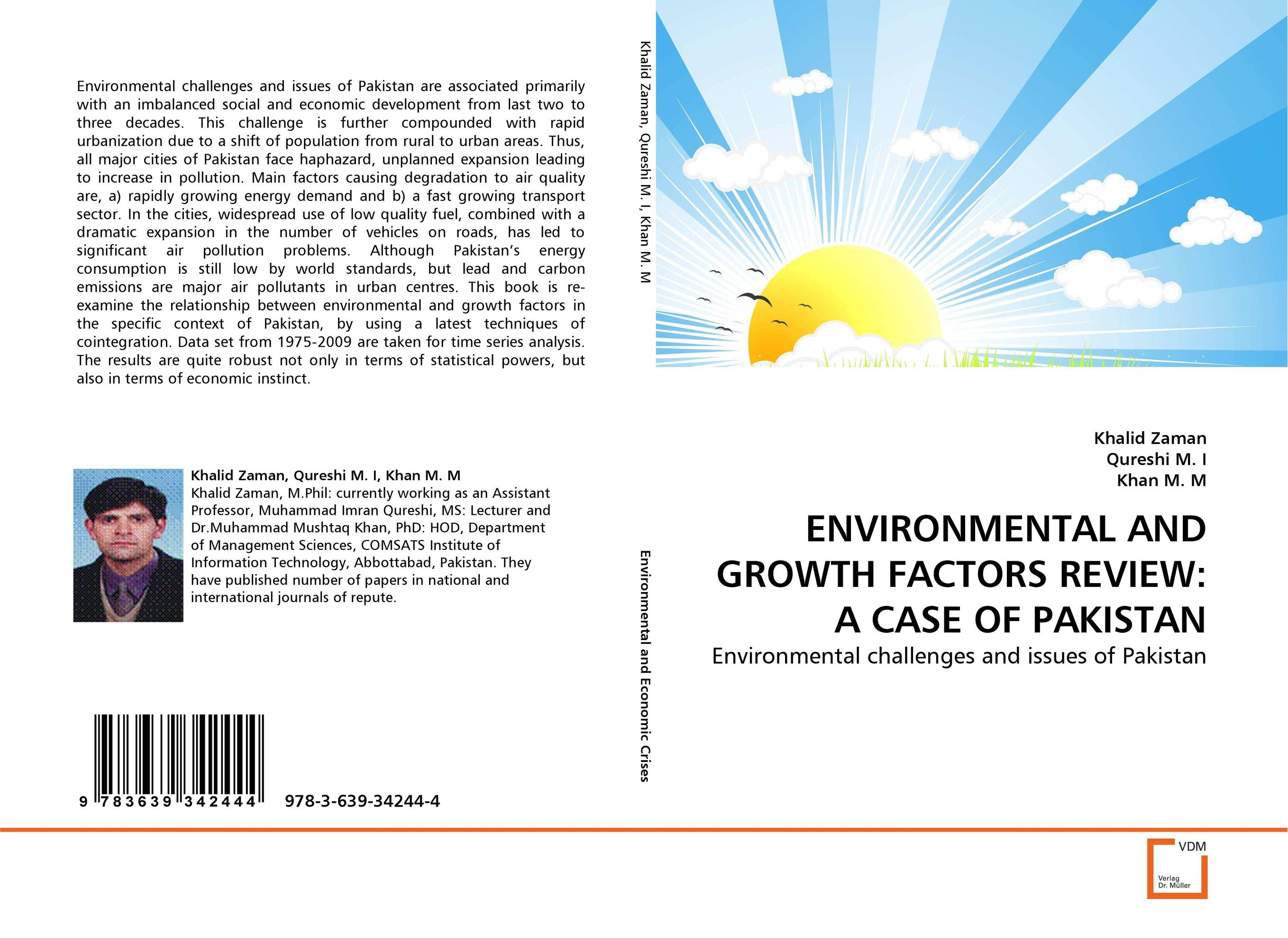 ENVIRONMENTAL AND GROWTH FACTORS REVIEW: A CASE OF PAKISTAN sampling and analysis of environmental chemical pollutants a complete guide