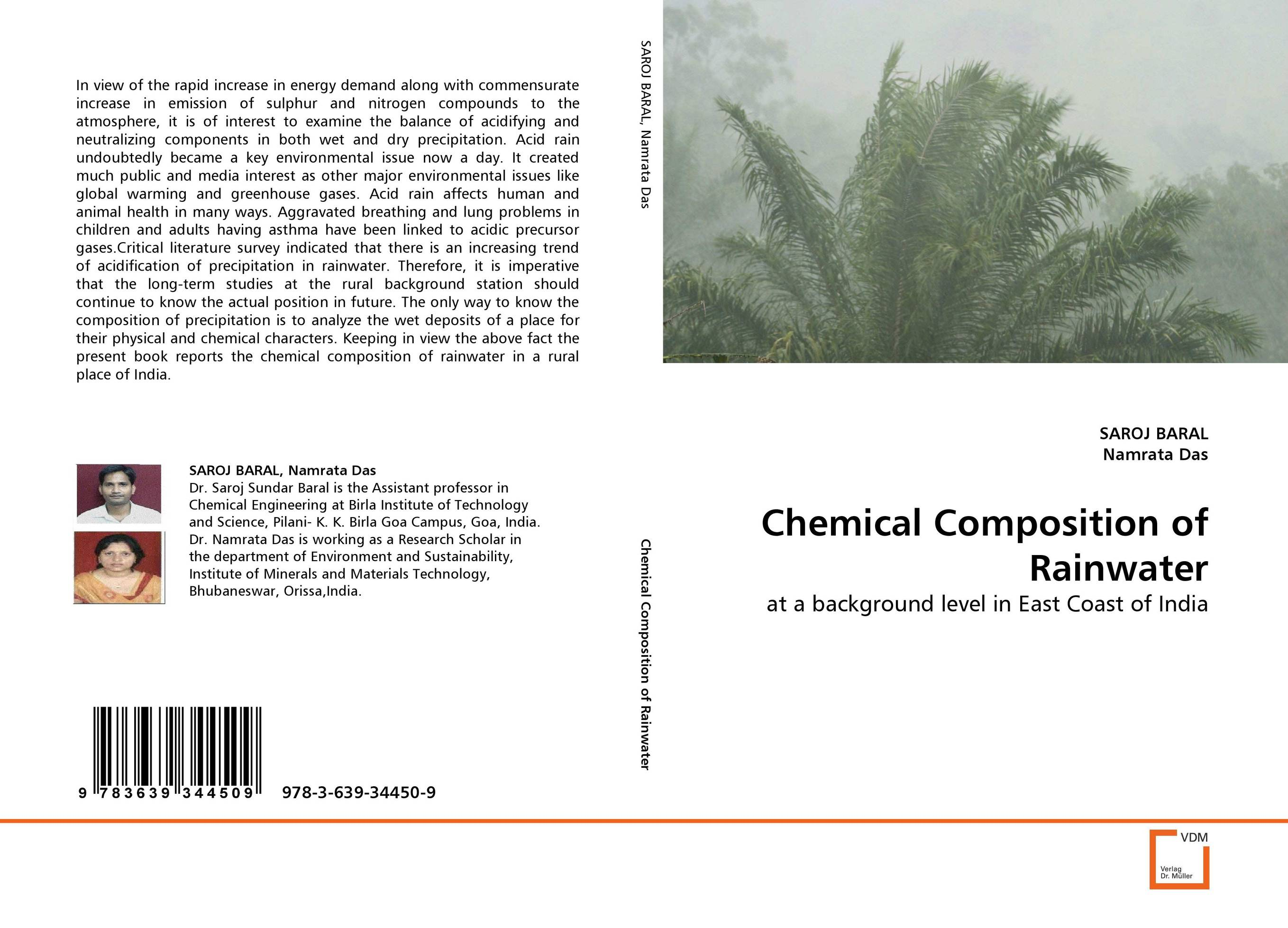 Chemical Composition of Rainwater sampling and analysis of environmental chemical pollutants a complete guide