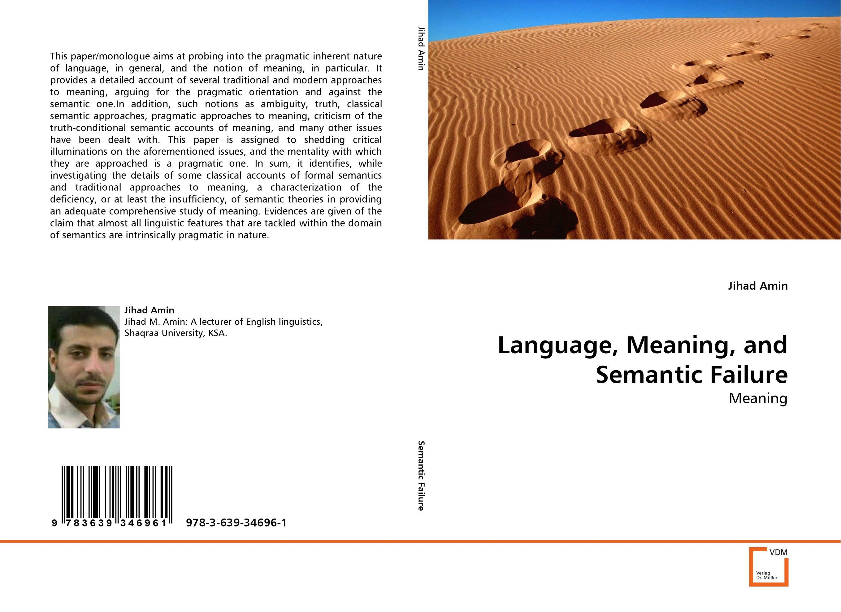 Language, Meaning, and Semantic Failure ways of meaning – an introduction to a philosophy of language