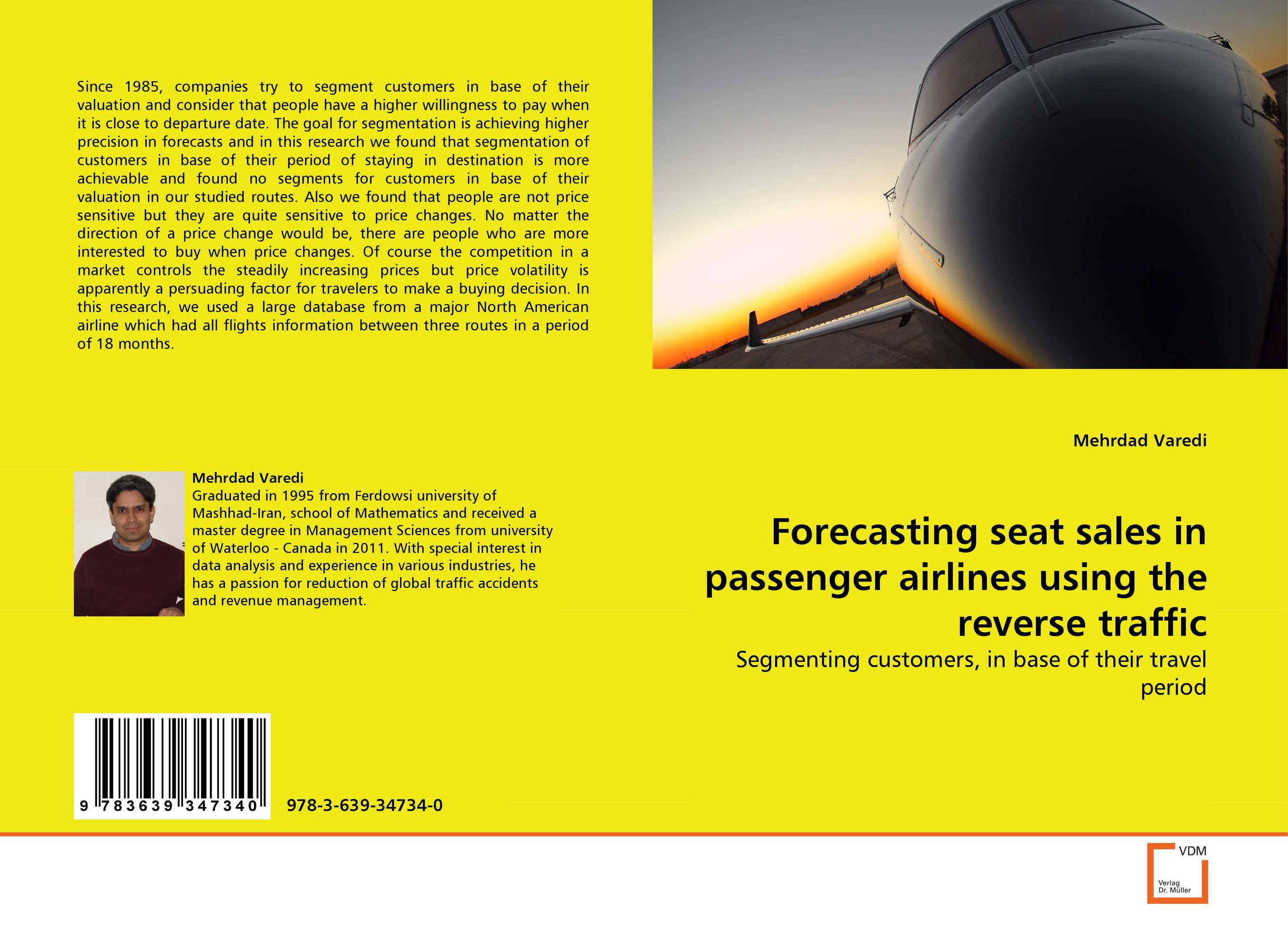 Forecasting seat sales in passenger airlines using the reverse traffic