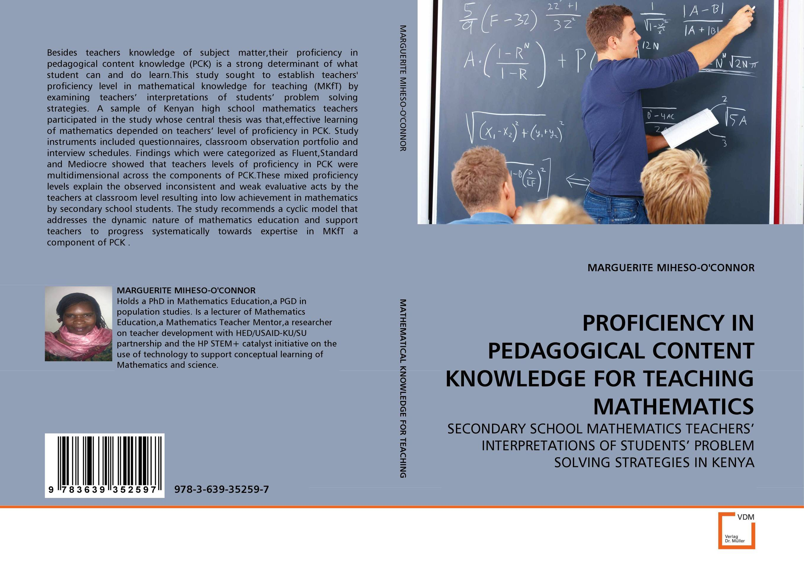 PROFICIENCY IN PEDAGOGICAL CONTENT KNOWLEDGE FOR TEACHING MATHEMATICS manage enterprise knowledge systematically