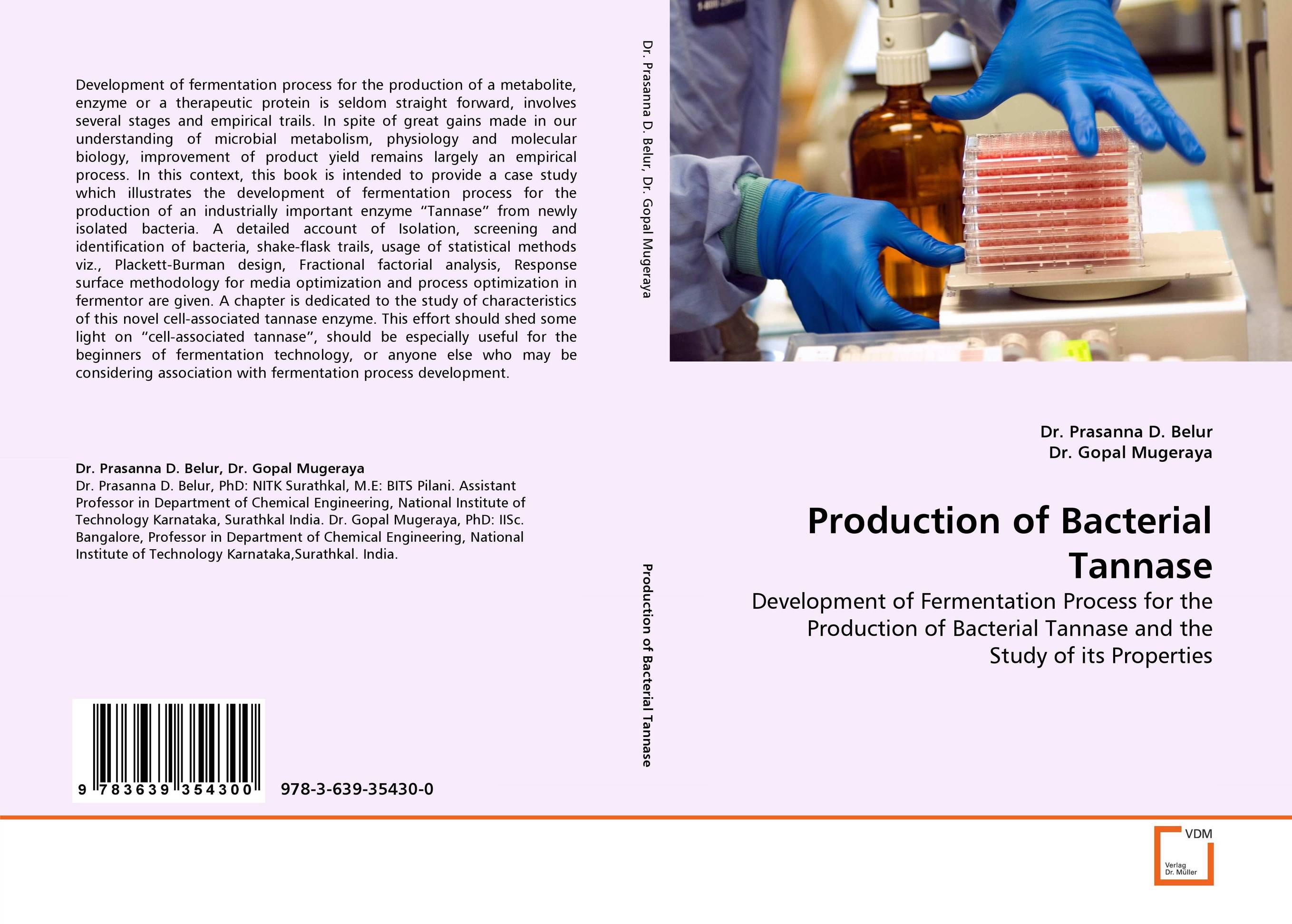 Production of Bacterial Tannase fermentation technology