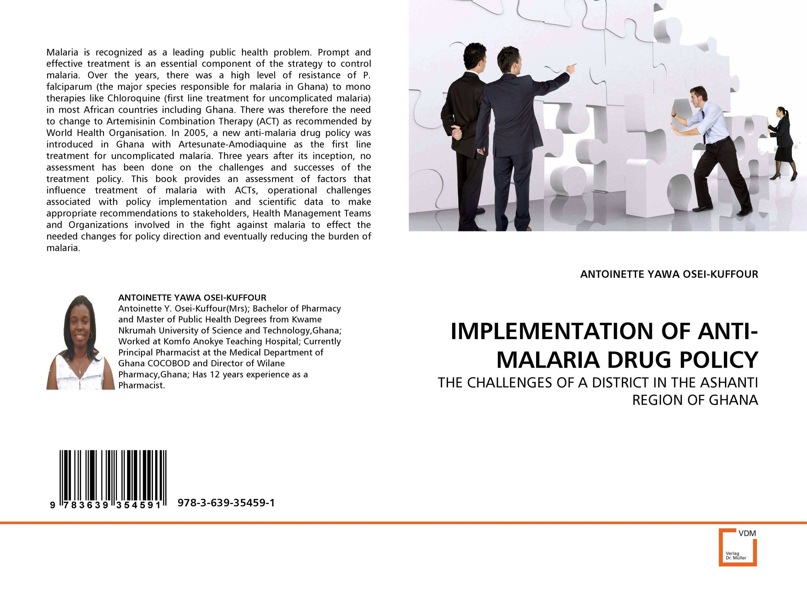 IMPLEMENTATION OF ANTI-MALARIA DRUG POLICY laari prosper a a duker and frank osei badu spatial analysis of malaria amansie west ghana