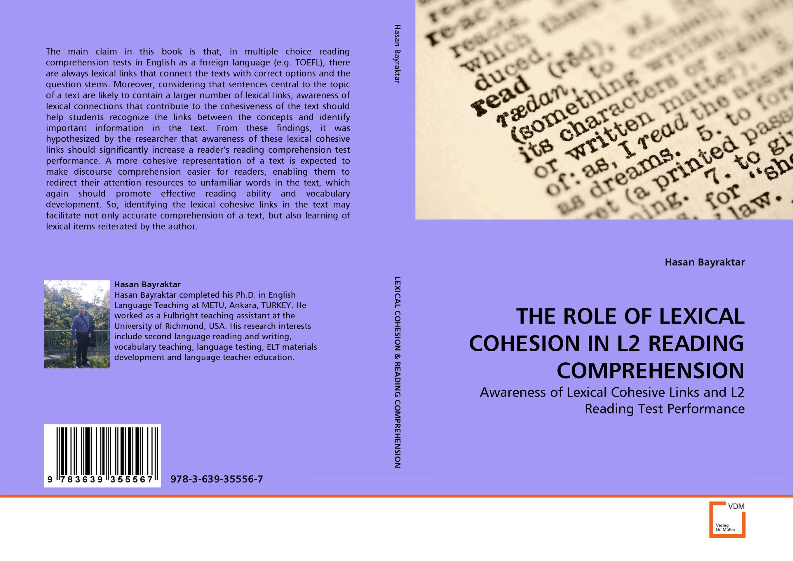 THE ROLE OF LEXICAL COHESION IN L2 READING COMPREHENSION text in action