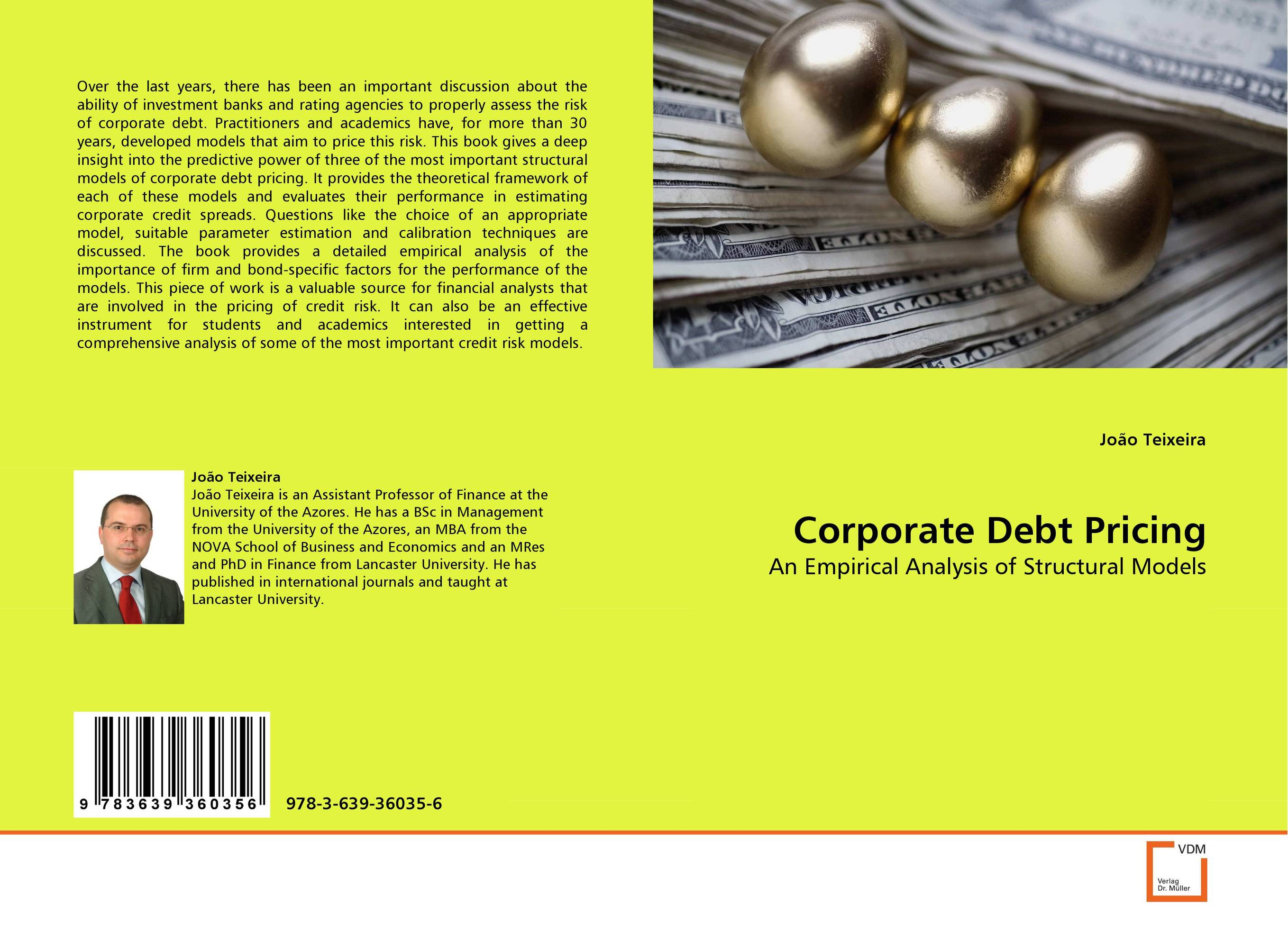 Corporate Debt Pricing credit and risk analysis by banks