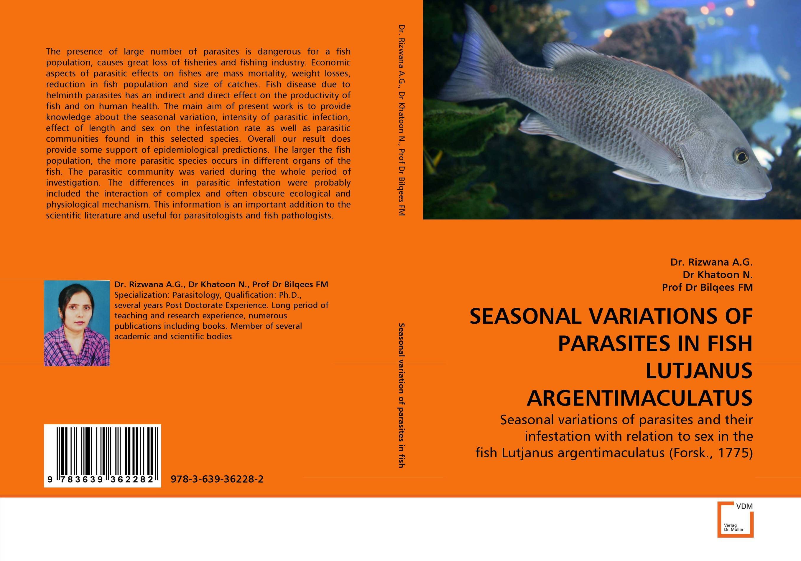 SEASONAL VARIATIONS OF PARASITES IN FISH LUTJANUS ARGENTIMACULATUS parasitic wood