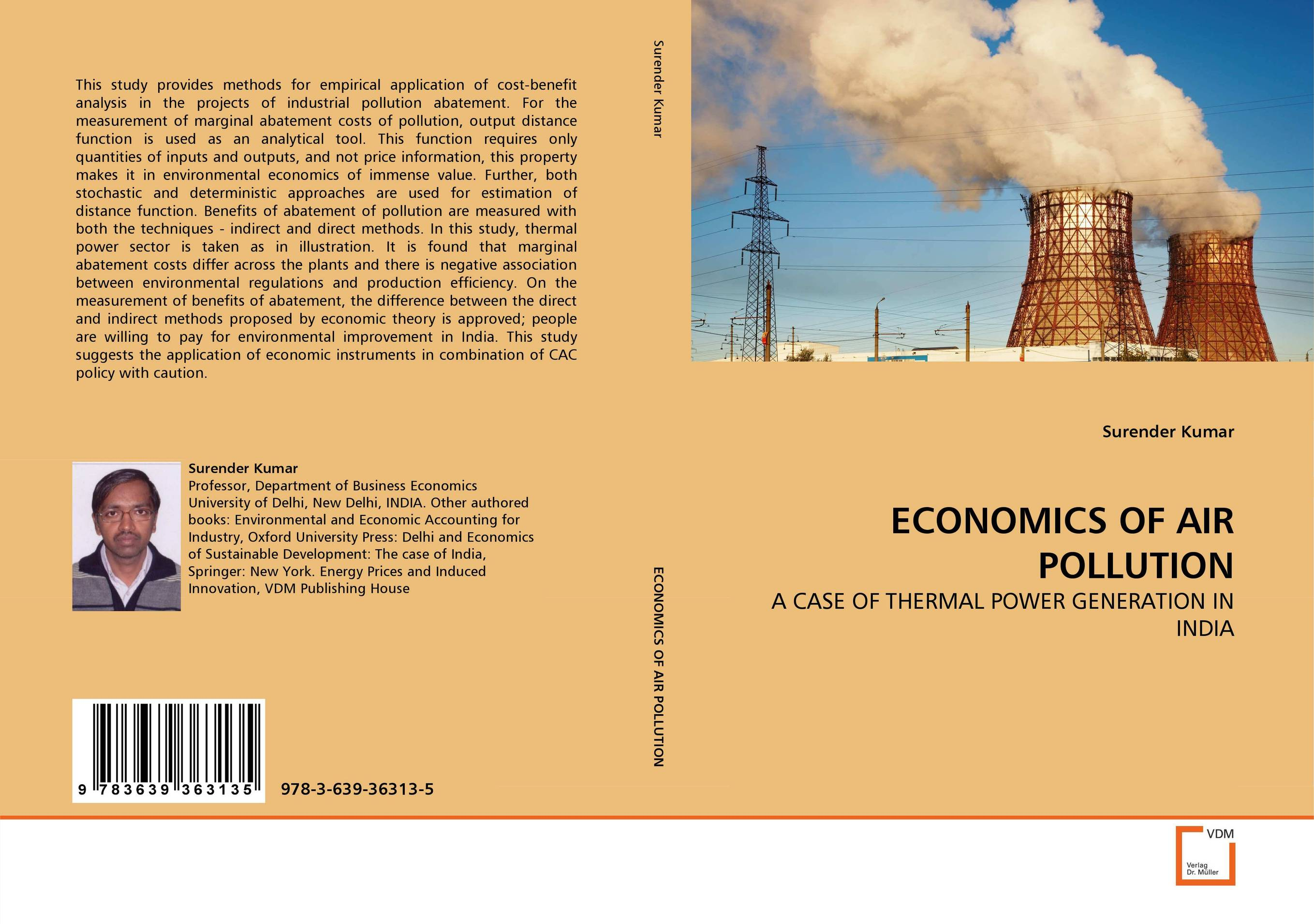 ECONOMICS OF AIR POLLUTION p k rao the economics of transaction costs theory methods and applications