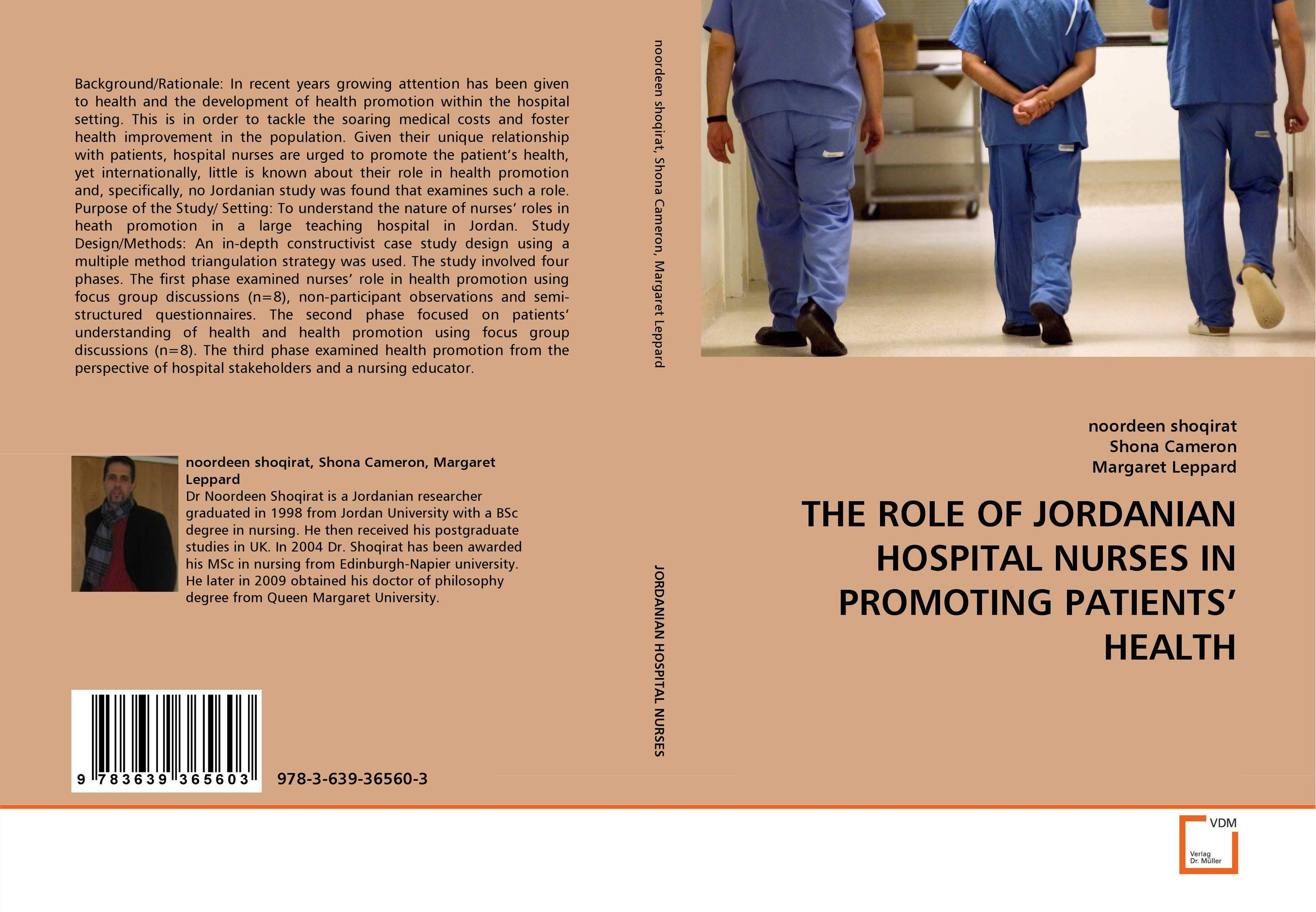 THE ROLE OF JORDANIAN HOSPITAL NURSES IN PROMOTING PATIENTS'' HEALTH an evaluation of the role of eia database in promoting eia practice