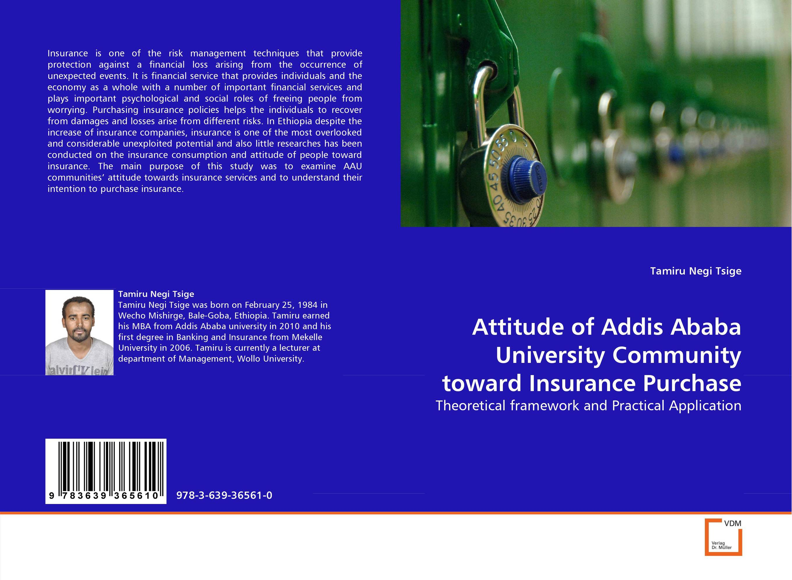 Attitude of Addis Ababa University Community toward Insurance Purchase
